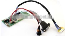 "LCD Monitor Driver Board Kit w/ VGA Cable Built-in 8 Programs Support 15"" 17"" 19"" 22"" LVDS Screen Free Shipping"