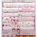 Newborn Gift Set Spring And Summer 100% Cotton Baby Girls Clothing Fashion O-Neck Long Sleeve Baby Boy Underwear 19 Piece