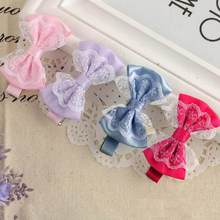 Children's bow lace hairpin Cute Lace Bowknot Hair Clips Baby Girl Hairpin Child Hair Accessories Good quality gift ot12 p30(China)