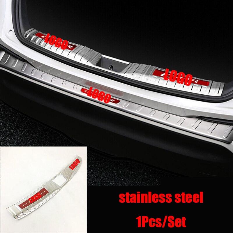 For Toyota C HR CHR 2017 2018 stainless steel built in inner rear bumper foot plate