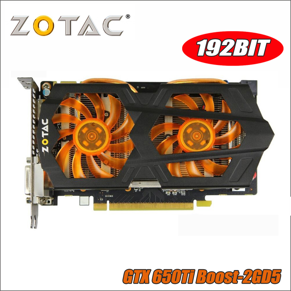 ZOTAC Video Card GeForce GTX 650Ti Boost 2GD5 192bit GDDR5 Graphics Cards for nVIDIA GTX 650 Ti 2G 2GB Hdmi 750ti 750 1050ti