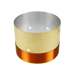 Image 4 - GHXAMP 77mm Woofer Bass Voice Coil With Venting Hole White Aluminum 2 layer Round Copper Wire Repair Parts 2PCS