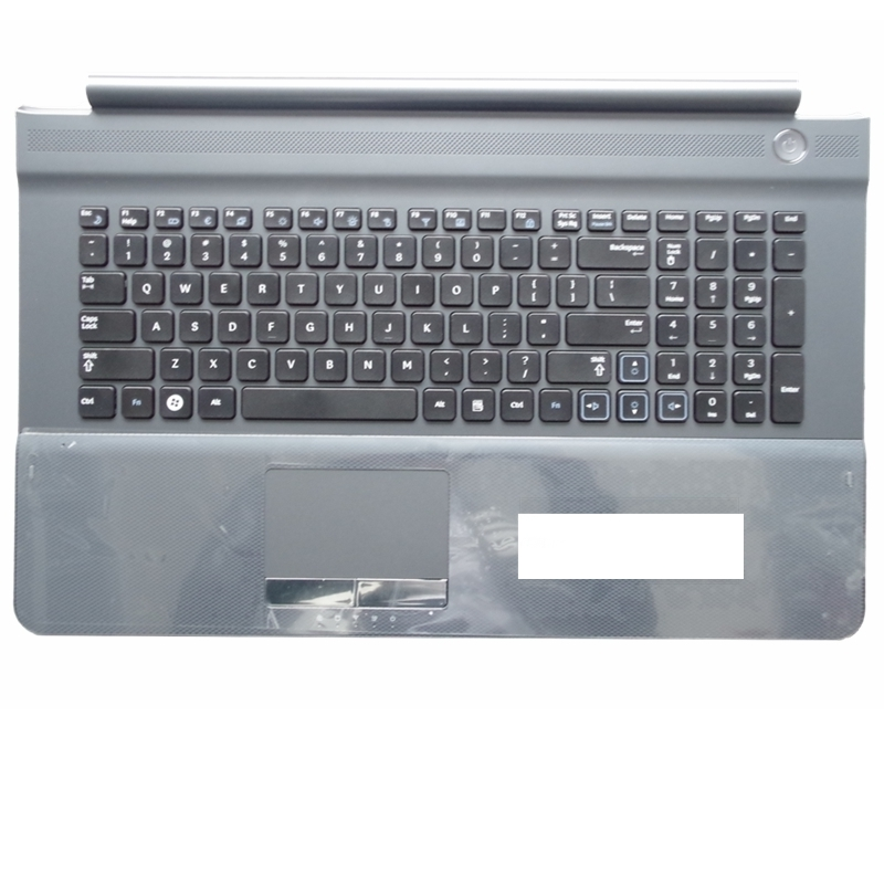 US For SAMSUNG NP RC710 RC711 RC720 Replace laptop keyboard with C shell New English Black button gray border new english for samsung np700z7a np700z7b np700z7c backlit keyboard us laptop keyboard with c shell