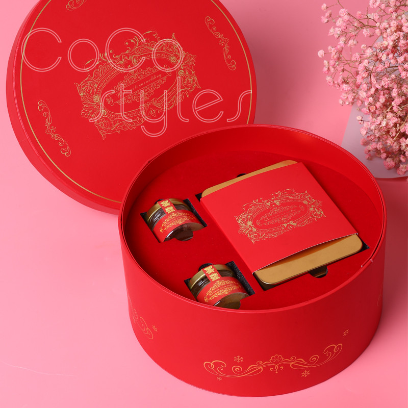 Cocostyles custom populal premium chinesestyle gift box with champagne chocolate honey for babyshower wedding present for guests - 2