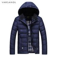 Varsanol Men's Winter Jacket Park Men Thick Warm Cotton Coat Parkas Snow Wear Hooded Coat For Man Long Coats Casual Outwear New
