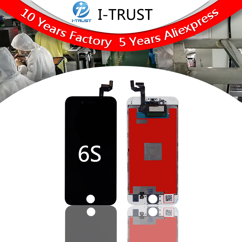 50PCS Grade A For iPhone 6S LCD Touch Screen Digitizer Display Replacement Assembly With Frame No