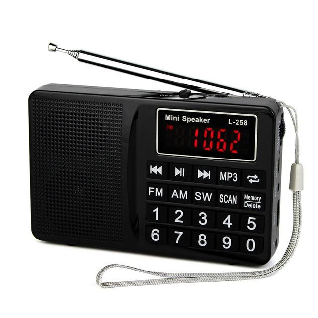 Радио FM/AM/SW Радио Рекордер Басов MP3 Музыкальный Плеер Мультимедиа Мини Портативный Динамик Радио Y4405A