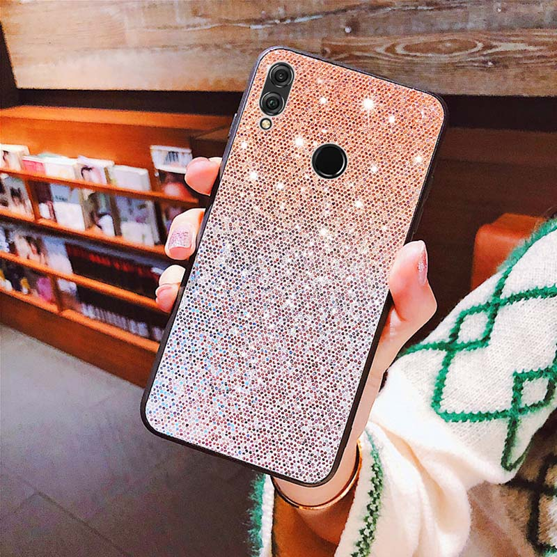 Gradient Sequins <font><b>Case</b></font> For <font><b>Huawei</b></font> <font><b>Y7</b></font> Y6 Pro Prime Y9 <font><b>2019</b></font> P Smart P30 P20 Lite Pro Nova 4 3i 3 Honor 20 8X 8C <font><b>Glitter</b></font> Bling Cover image