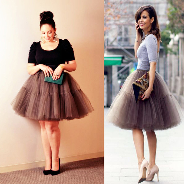 a220d8522910 New Elegant 2015 Summer Style 5 Layers Long Celebrity Skirts Womens  Princess Midi Tutu Tulle Skirt Party Gowns YJQX00010