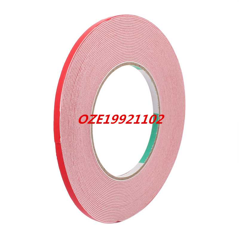5mm x 1mm White Dual Sided Self Adhesive Sponge Foam Tape for Car 10M Long 10m 40mm x 1mm dual side adhesive shockproof sponge foam tape red white