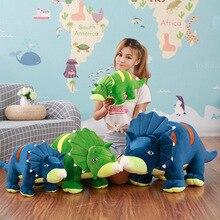 Creative Soft Triceratops Stegosaurus Plush Toy Dinosaur Doll Blue+green Stuffed Toy Kids Dinosaurs Toy Birthday Gifts стоимость