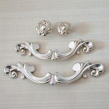3.75 5 Antique Silver Dresser Pull Knob Kitchen Cabinet Handle Knobs Shabby Chic Drawer Handles Furniture