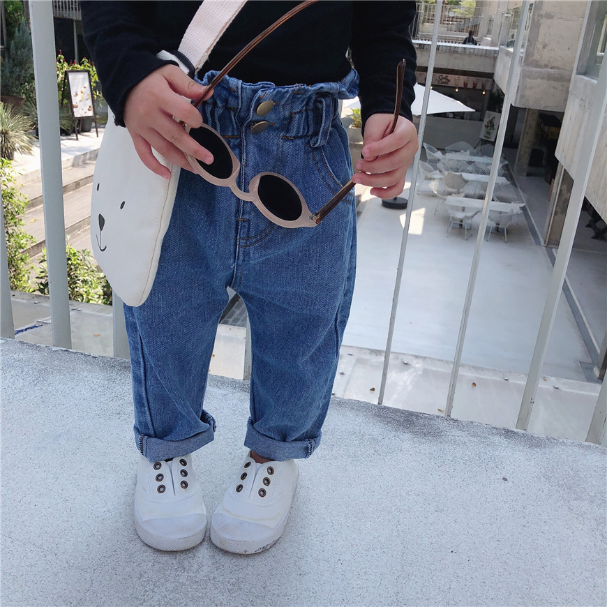 Celveroso Frühling Herbst jungen mädchen mode lose jeans kinder all-gleiches casual denim hosen kinder hosen 1-6Y