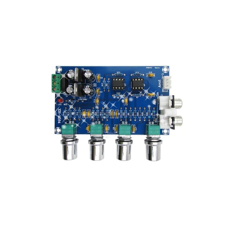 TONLEN NE5532 Preamp Pre Amplifier Audio Adjustment Plate Double AC12V HIFI  Amplifier Preamplifier Volume Tone Control Board