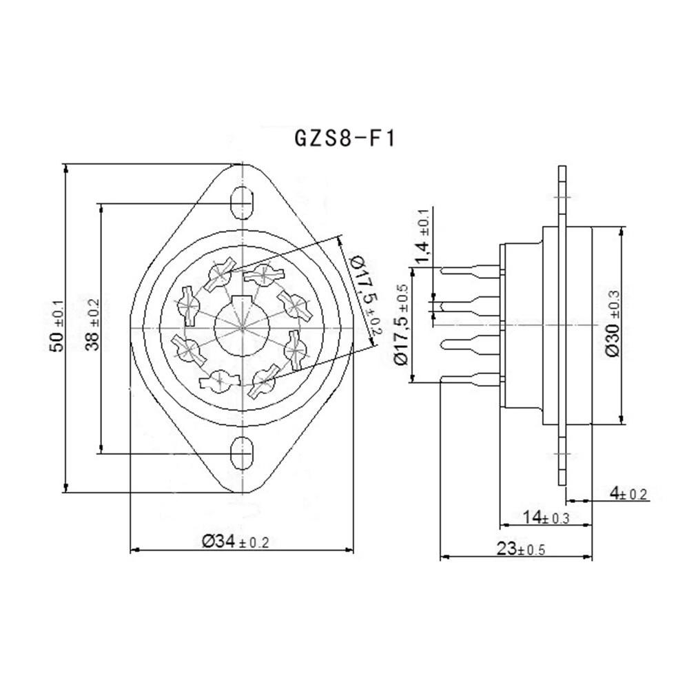 1PCS KT88 EL34 6V6 6SN7 274B 6L6 6SL7 350B 6V6 PCB Mount Plastic K8A 8pin  Vacuum Tube Socket Audio HIFI DIY Tube Amplifier