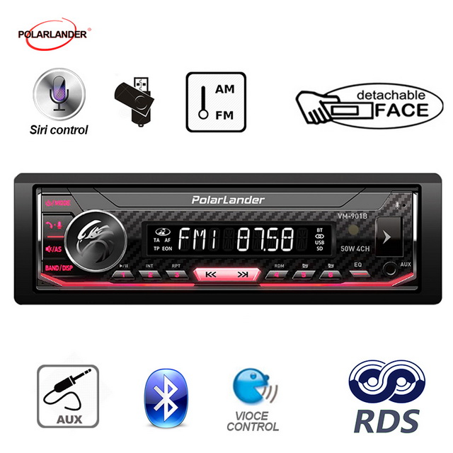 Siri Assistant bluetooth 1 din AM FM RDS Radio Car Multimedia Player Autoradio car radio Support Android 7 0 or Above in Car MP3 Players from Automobiles Motorcycles