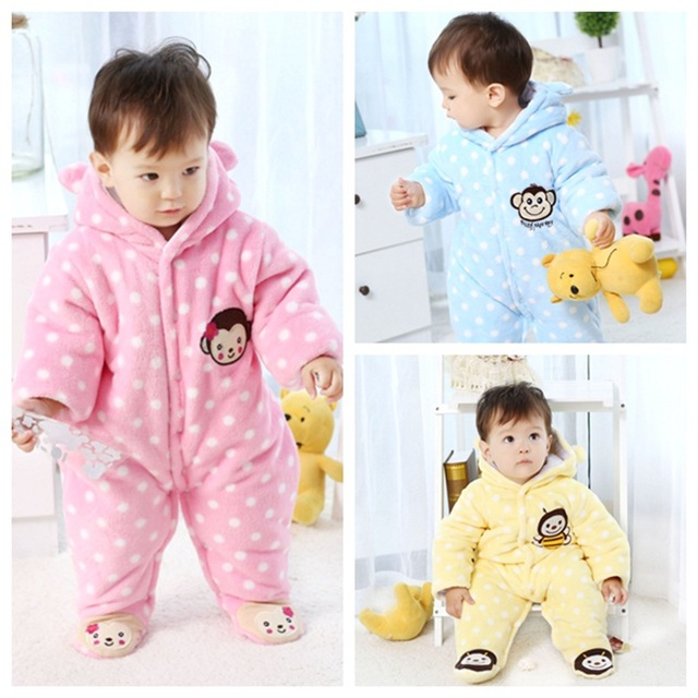 53bdb731f979e 2017 New Baby Autumn Winter Romper Coral Fleece Thick Newborn Baby Girl Warm  JumpsuitFashion Baby Boy's Wear Kid Climb Clothes