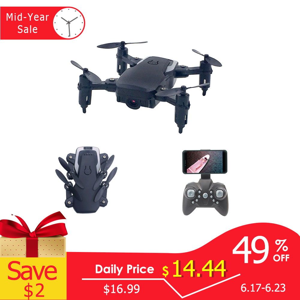 Foldable Mini Drone With RC Quadrocopter With Camera HD Quad-Counter With High Hold RC Helicopter With Headless Moder Kid's Toys