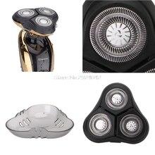 Barbeador Barbeador elétrico Flutuante 3 Cabeças de Substituição de Cabeça para 3D Golden HTY07 RQ1150