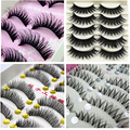 1set/10 Pairs Handmade Fake False Eyelash Lashes Volume Lashes Natural Transparent Stem Beauty Mink Eyelash Extensions Maquiagem