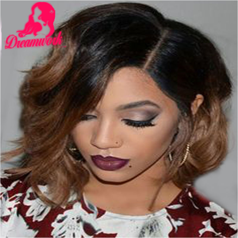 Virgin Short Ombre Bob Full Lace Wig With Bleached Knots