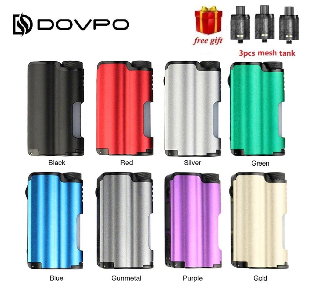 D'origine DOVPO Topside 90 w Top Remplir TC Squonk MOD avec 10 ml Grand Squonk Bouteille et 0.96 pouce OLED écran VS GLISSER Boîte Mod Ecig