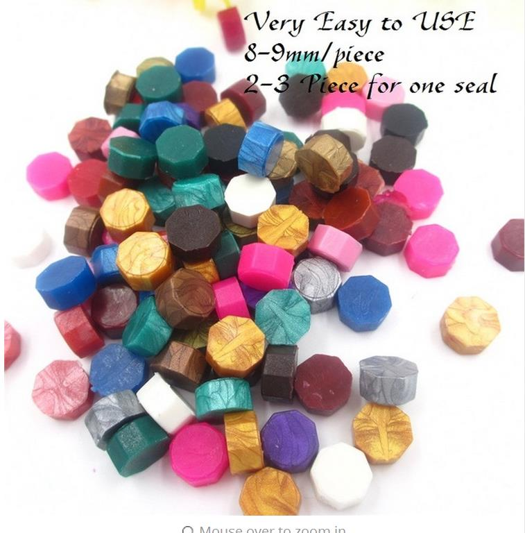Hot Sale!100 PCS mixed color/set Multicolor Stamps Sealing Wax granule In bulk Multifunction Documents Stamp supplies