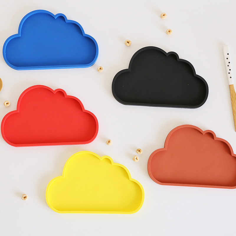 3PCS/set Cute Coaster Colorful Cloud Coaster Set for Cup& Mug 21.5cm*3.5cm Silicone Glass Mat for Tableware Kitchen Accessories