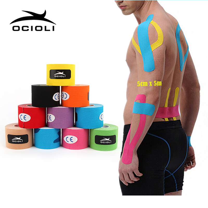 5M*5CM Kinesio Sport Tape Physio Muscle Strain Injury Support Muscle Care Strap Sticker Kinesiology Tape Elastic Bandage Fitness herbal muscle