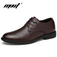MVVT Más Tamaño Genuino de Cuero Zapatos de Vestir de Moda Punta estrecha Oxfords de Los Hombres de Alta Calidad Zapatos de Los Planos de Los Hombres Zapatos de Los Hombres Sólidos