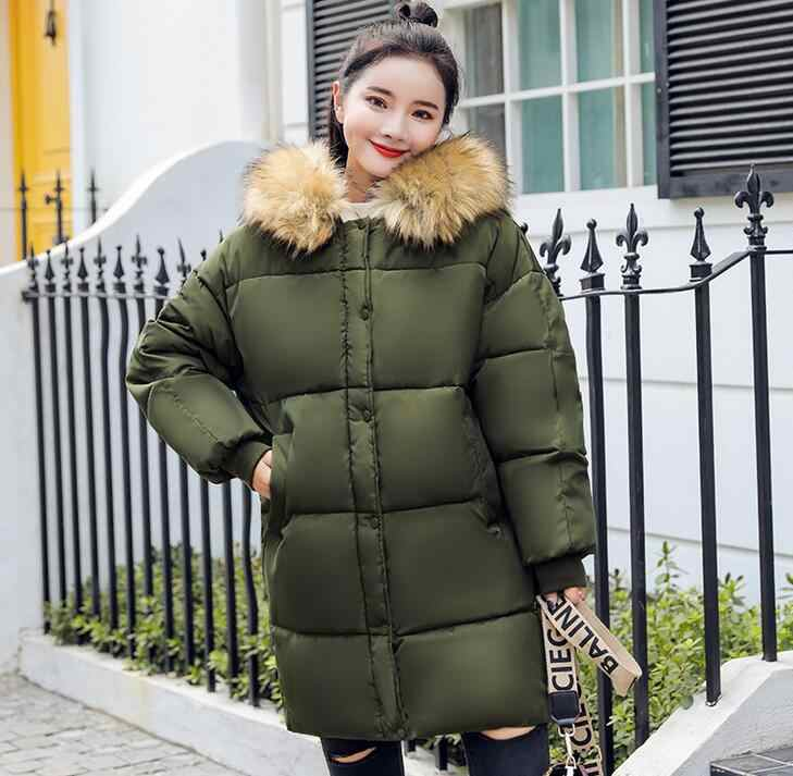 8b82481d22a73 ... 2018 Winter Women loose Coat Thick Maternity Hooded Jackets Warm Coats  Cotton Down Padded Pregnant Overcoat ...