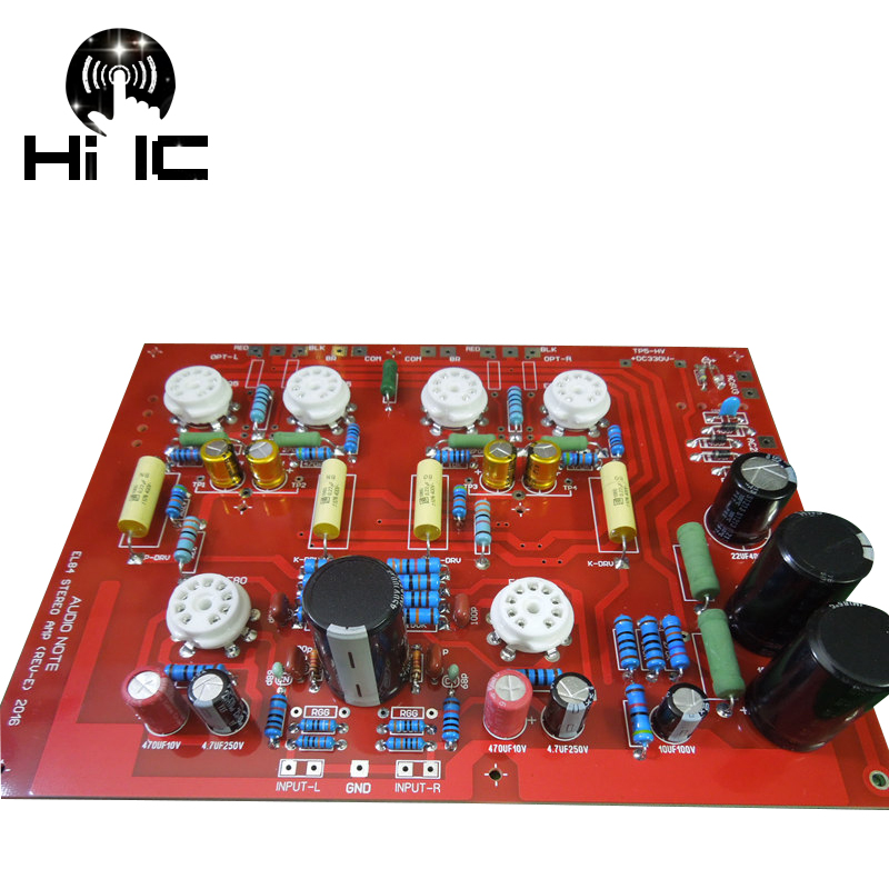 Latest HiFi Hi-End Stereo Push-Pull EL84 Vaccum Tube Amplifier PCB DIY Kit Ref Audio Note PP Board