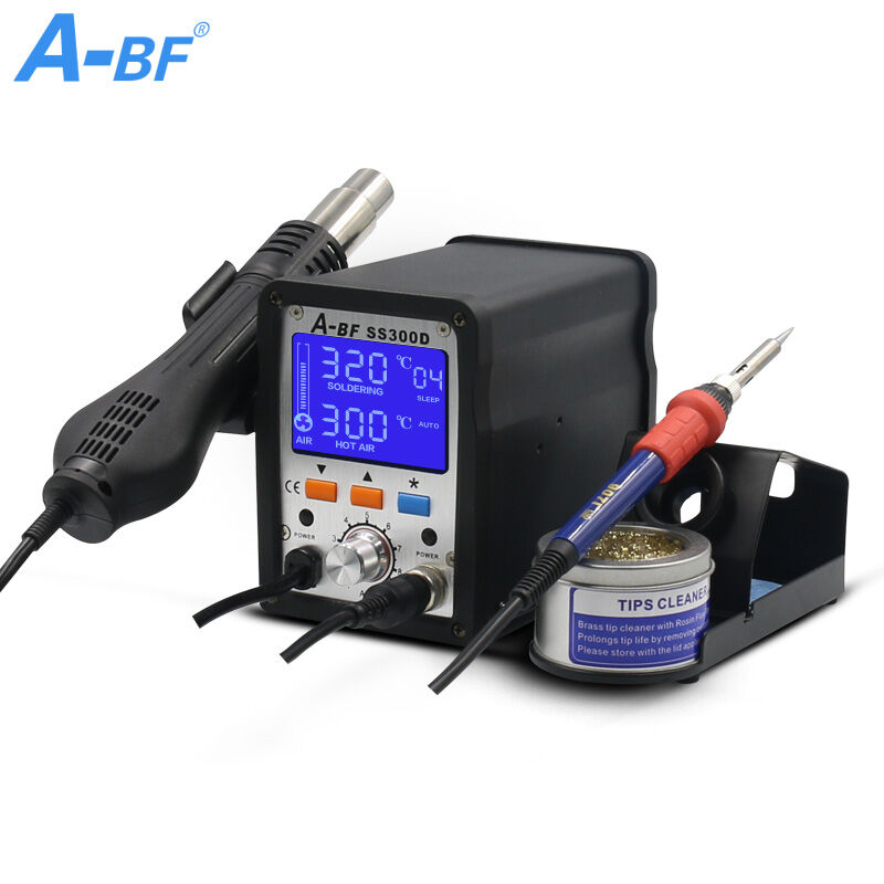 A-BF Digital Soldering Station 2 IN 1 SS300D BGA rework station hot air gun  soldering Station soldering iron station brand new a bf 203h 220v 90w soldering station digital display soldering iron station diy auto sleep high frequency iron thermostat
