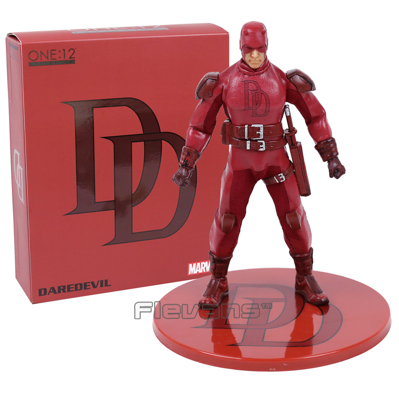 MEZCO Marvel Daredevil 1/12 Scale Statue PVC Action Figure Collectible Model Toy 16cm цена