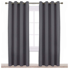 Blackout Curtain Panels for Bedroom Three Pass Microfiber Noise Reducing Thermal Insulated Solid Ring Top Window Drapes