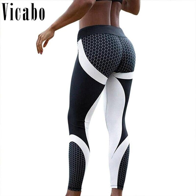 Vicabo Women Workout Leggings Push Up Jeggings Pants leginsy damskie Women black Gothic Fitness Legging