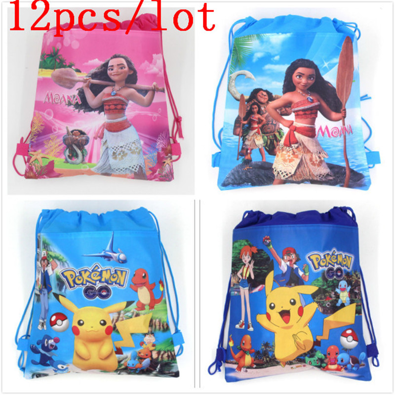12Pcs Moana Drawstring Backpack Children School Back Pack Leisure Patr Colorful Knapsack Favor School Bags Birthday Party Bag12Pcs Moana Drawstring Backpack Children School Back Pack Leisure Patr Colorful Knapsack Favor School Bags Birthday Party Bag