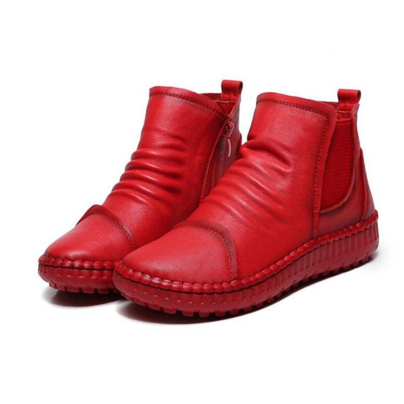 1 2 Cuero Mujer Botines 3 Hecho Otoño Calzado A Mano Femenino Primavera Auténtico K48 Zapatos Plataforma Mujeres Botas aZqWnxgqp