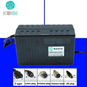 Image 1 - 48V 10A ebike Li ion Lipo Lifepo4 ładowarka akumulatorów litowych Li ion 54.6V 58.4V 58.8V 13S 14S 15S 16S do elektrycznego silnika rowerowego