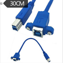 USB 3.0 cable BF B master with ear lock screw panel female used in hard disk box printer scanner,