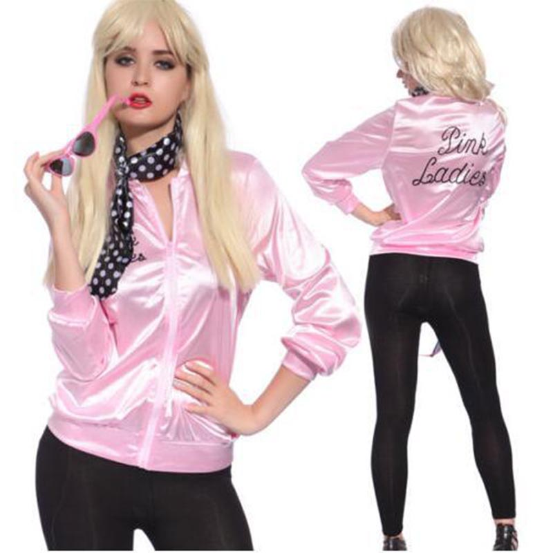 Basic     Jackets   Spring Coat Women Zipper 2018 Pink Solid Tracksuit Punk Streetwear Lady Retro Fancy Vintage Costume Bomber   Jacket