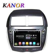 KANOR için android 5.11 Araba DVD GPS Radyo Mitsubishi ASX/Citroen C4/Peugeot 4008 elemeleri Çekirdek 1.6G BT USB Ücretsiz Harita ile WIFI
