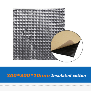3D Printer Heatbed Parts 300*300*10mm Hot Bed Insulation Rubber Cotton Sticker, Water-Proof Insulated Sheet image