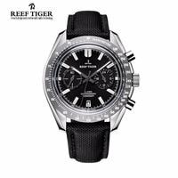 Риф Тигр бренд класса люкс мужские часы спортивных хронографов Водонепроницаемый супер световой нейлоновый ремешок кварцевые часы Relogio