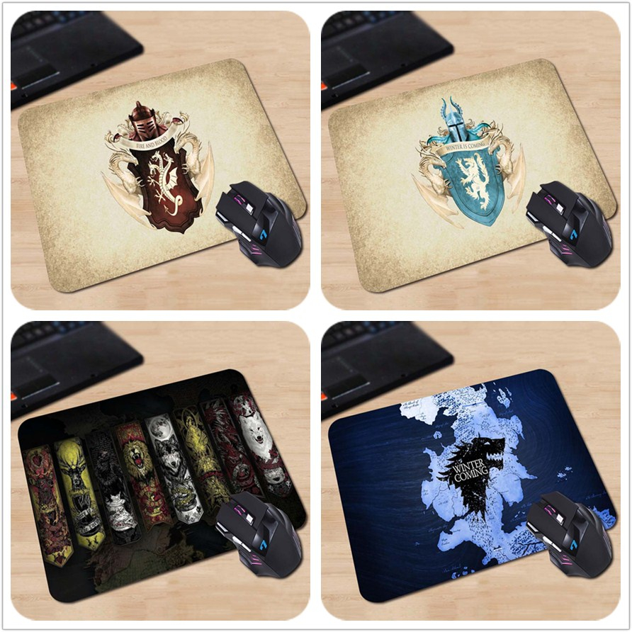 High Quality Customized Mouse Pad A Song Of Ice And Fire Game Of Thrones House Stark Winter Is Coming Hear My Roar Mouse Mat Pad