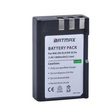 Batterie d'appareil photo Nikon, 1800mAh, EN EL9, pour D40, D60, D40X, D5000, D3000, chargeur, 1 pièces