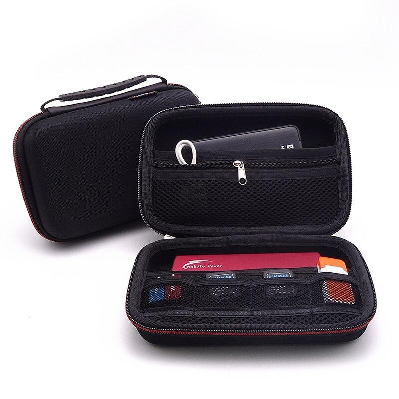 """Guanhe bolsa de transporte para nintendo 3ds, bolsa de viagem com 2.5 """"de disco rígido hdd digital, nova 3ds xl/nova 3ds.ll banco de energia"""