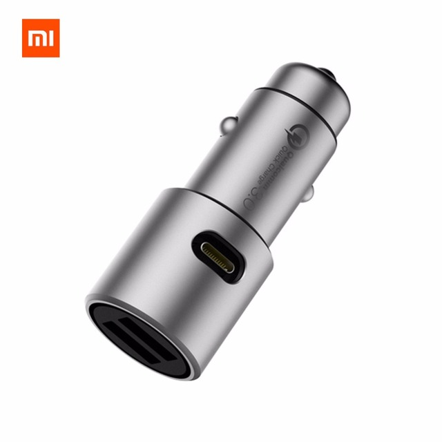 Original Xiaomi Car Charger QC3.0 5V/3A dual USB Quick Charger Extended Accessory USB-A USB-C Dual Port Output