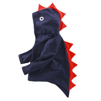 New Born Baby Boys Hoodies Dinosaur Design Cartoon Cotton Hooded Coat with Tail Kids Girls Spring Hoodies Children Outfit Cloth