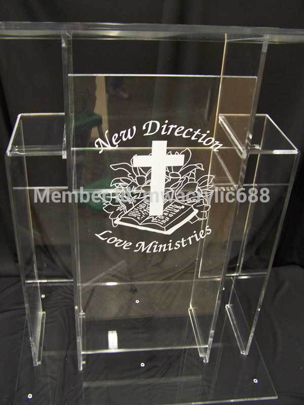 Pulpit Furniture Free Shipping High Quality Price Reasonable Cheap Clear Acrylic Lectern Acrylic Podium